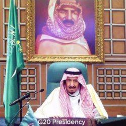 بالصورة.. خادم الحرمين يتواصل مع قادة مجموعة العشرين خلال القمة الاستثنائية