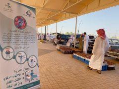 بالصور.. مستشفى #الدلم يشارك في سوق التمور الموسمي بالمحافظة عبر ركن توعوي