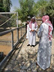 بالصور..  #محافظ_الخرج يزور محمية المها الوضيحي بالهياثم
