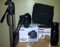 ( إحترآفيه ) كاميرا كانون 550d + عدسة زوم 70-300