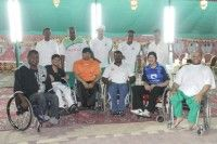 مهرجان (ليالي رمضانية) يستضيف أعضاء جمعية (حركية) للمعاقين الكبار