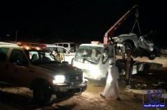 بالخرج : خمسة افراد من عائلة واحدة يلقون حتفهم بحادث مروري يهز الدلم