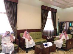محافظ الخرج يلتقي بمدير مكتب وزارة المالية بالمحافظة