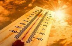 """بالفيديو.. """"الأرصاد"""" توضح المدن الأكثر تأثراً بموجة الحر الجديدة.. والساعات الأشد حراً في اليوم"""