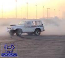 """بالفيديو والصور.. """"الدرباوية"""" يفحطون ويفجّرون الإطارات في الرياض ضمن رياضة الاستعراض الحر"""