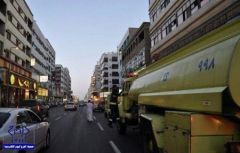 إخلاء 65 شخصاً من عمارة سكنية إثر نشوب حريق بالطائف