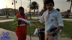 ثانوية الملك عبدالله تنفذ المشروع التطوعي(كسوة الشتاء)