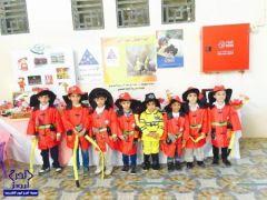 أطفال روضة براعم الخرج  اليوم يوجهون شكرهم رجال الدفاع المدني بمناسبة يومهم العالمي