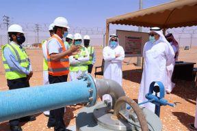 بالصور.. وزير البيئة والمياه والزراعة يتفقد سير العمل بعددٍ من مشاريع المياه المحلاة بالرياض