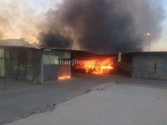 الدفاع المدني يباشر حريق الخردوات ب #الخرج