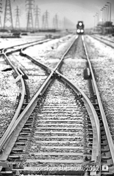 سكة القطار بالخرج