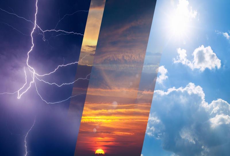 """""""الإنذار المبكر"""" ينبه من أمطار رعدية ورياح نشطة على عدد من المناطق.. وموجة حارة في الرياض والشرقية"""