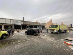 بالفيديو والصور.. وفاة شخص وإصابة 6 آخرين إثر حادِث تسرب غاز في مطعم بحي المونسية