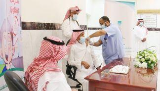 بحضور سعادة محافظ الخرج.. فريق من القطاع الصحي في زيارة لمقر المحافظة
