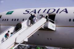 """بالفيديو.. """"الخطوط السعودية"""": نقلنا 300 ألف مواطن للمملكة خلال الجائحة.. وهذه تفاصيل الرحلة التاريخية إلى لوس أنجلوس"""
