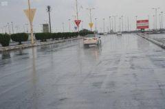 حالة الطقس اليوم: استمرار هطول الأمطار على الجنوب وأجزاء من مكة والمدينة