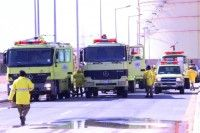 الدفاع المدني ينفذ خطة إخلاء لحريق وهمي في محطة التوليد العاشرة للكهرباء