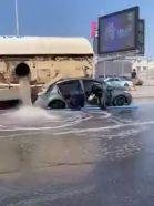 بالفيديو.. وفـاة شخصين وإصابة آخرين في حـادث انقلاب صهريج على 3 مركبات في جدة