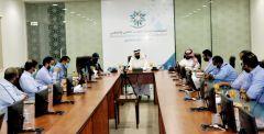 د/راشد الزهراني في زيارة الي الكلية التقنية بالخرج