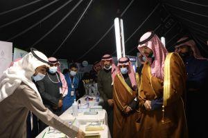 صاحب السمو الملكي الأمير محمد بن سلطان يزور #شتاء_الخرج ويشارك في فعاليات العرضة وركن الصقارين