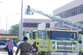 شاهد مدني #الخرج ينفذ فرضية حريق بمستشفى الملك خالد
