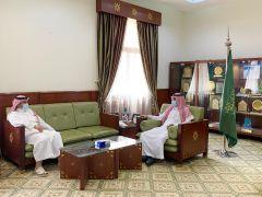 محافظ الخرج يلتقي ممثل إدارة المنطقة بشركة الاتصالات السعودية بمحافظة الخرج