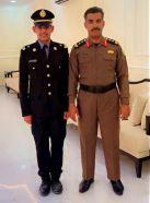 العقيد سلطان وقيان يتلقى التبريكات بتخرج نجله الملازم سعود
